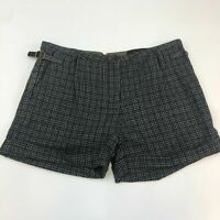 NWT Gianni Bini Plaid Shorts Women's 31 Houndstooth Cuffed Wool Blend Casual
