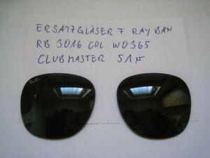 Originalgläser f. Ray Ban RB 3016, Clubmaster, Ersatzsonnengläser
