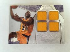 Magic Johnson 2007-08 UD Exquisite Collection EXTRA Quad Jersey Game Worn #16/25