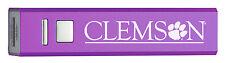 Clemson University-Portable Cell Phone 2600 mAh Power Bank Charger-Purple