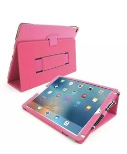 Snugg  Leather Case for Apple iPad Pro 12.9 Protective Flip Stand Hot Pink New