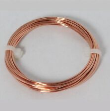 16 Ga Copper Jewelry & Craft Wire (18 Ft. Coil / 2 Oz)  HALF HARD  Pure Copper