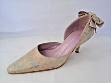 ULTIMATE COLLECTION MULTI COLOURED SUEDE LEATHER HEELS WOMENS COURT SHOES UK 3