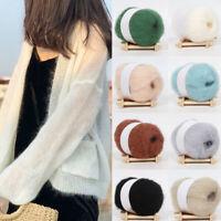 18 Colors 25g DIY Mohair Cashmere Crochet Thread Soft Knitting Wool Yarn Sweater
