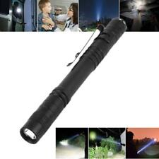 50000LM Mini LED Penlight Flashlight Torch Clip Pocket Waterproof Lamp Light AAA