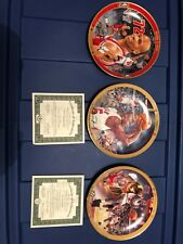 Michael Jordan Upper Deck Collector Plates lot of (3) Chicago Bulls Basketball