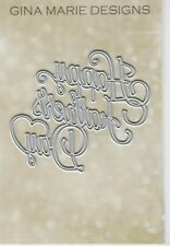 Gina Marie designs metal cutting dies - Happy Fathers day word die