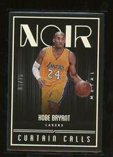 2016-17 Panini Noir #281 Kobe Bryant HOF Los Angeles Lakers 6/25