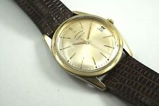 GUBELIN CHRONOMETER GOLD TOP STEEL CASE AUTOMATIC DATE 1960'S BUY IT NOW!!