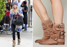 Free People Sunbelt Suede Boho Ankle Boots Booties Sz 41 11 Rare