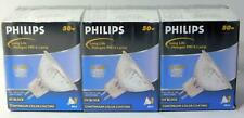3 each Philips Long Life Halogen MR16 Lamp 50w UV Block Continuum Color Coating
