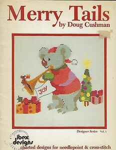 Merry Tails Charted Designs Patterns Needlepoint Cross-stitch Craft Book #2035
