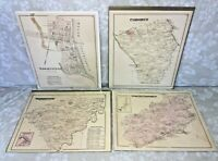 4 Antique Township Maps of York County PA 1876 by Beach Nichols