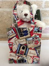 Harrods Teddy Bear In Gift Bag with Red Ribbon