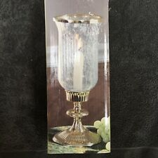 Cedar Creek Collection Gold Hurricane Candle Holder New