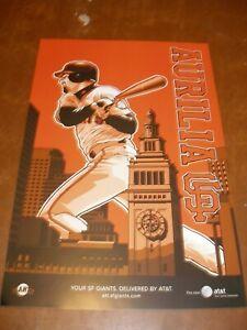 2007 San Francisco Giants 12x18 AT&T SGA Poster - Rich Aurilia Shortstop