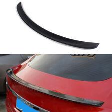 Carbon Fiber Glossy Black Rear Trunk Spoilers Wings Fit for Tesla Model S 12-17