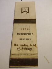 TRES RARE - Allumette - HOTEL METROPOLE - BRUXELLES - (126)