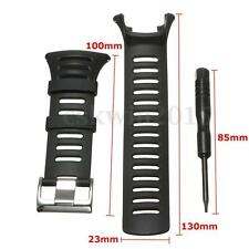 OEM Watch Band Strap For SUUNTO Ambit3 PEAK/Ambit 2/1 Soft Black Rubber