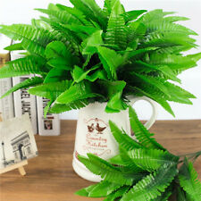 Large Artificial Boston Fern Fake Plant Bush 21 Leaf Leave Foliage Home Decor