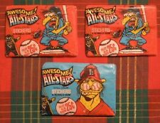 Lot of 3 Packs of Awesome All Stars Baseball Stickers Leaf 5 Color Stickers (O)