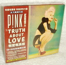 Pink The Truth About Love Taiwan CD+DVD Fan Edition w/OBI (digipak)
