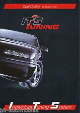 Prospekt Opel Calibra ITS Tuning 1990 Autoprospekt Auto 7 90 brochure PKWs