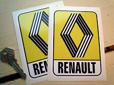 Renault 72 En Logo Autoadhesivo Clásico Auto Adhesivo 125 X 90mm 5 Turbo 8 6 15