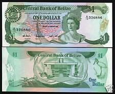 BELIZE $1 DOLLAR P46 1987 BIRD LIZARD QUEEN UNC RARE CURRENCY MONEY BANK NOTE