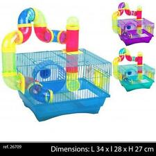 CAGE ROUE HAMSTER RONGEUR SOURIS ANIMAUX TUBE TOBBOGAN JEU  ROUE CIRCUIT NEUF 92