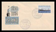 Iceland 1964 FDC, Gullfoss. Lot # 12.