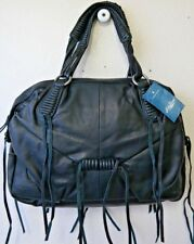 Lucky Brand Jordana Leather Satchel Bag Black HKW0024 NWT