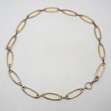 "Vintage Gold & Silver Tone Chain Belt 1990's 32"" Long"