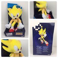 "Tomy Super Sonic The Hedgehog 12"" Plush Stuffed Animal Sonic Plush New"