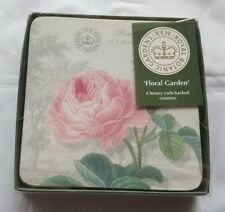 Set of 4 Creative Tops Royal Botanical Gardens Kew Luxury Cork-backed Coasters