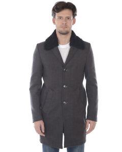 Cappotto Daniele Alessandrini Jacket Coat ITALY Uomo Grigio T529M5103906 10