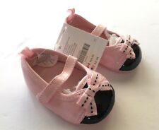 Nwt Gymboree Oodles of Poodles Pink & Black Patent Crib Shoes 01 for 0-3 Months