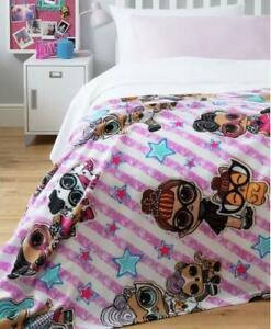 LOL Surprise Fleece Blanket Girls Pink Bedroom Bed Gift Sofa Throw