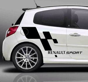 Large RENAULT SPORT Flag stickers Decals, Graphics For Clio,  Megane Any Colour