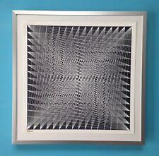 Lucile Keeler Roebuck Lithographie encadrée Signée 1970 op art Yvaral Vasarely