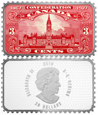 2018 Parliament Building Confederation-Jubilee1927 Canada Stamps $20 Silver Coin