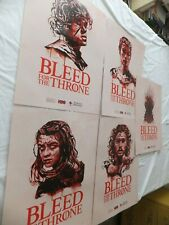 Game of Thrones Posters American Red Cross Bleed HBO 2019 Retired Set of 5 New