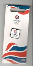 LONDON 2012 OLYMPICS TEAM GB PIN BADGE WHITE/ SILVER BORDER HONAV 590 ON C