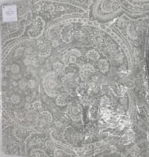 """Pottery Barn Vanessa Paisley Pillow Cover ~ 20"""" x 20"""" ~ Gray"""