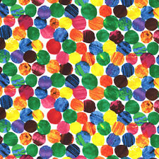 "ANDOVER ""THE VERY HUNGRY CATERPILLAR"" DOTS Multi by yard"