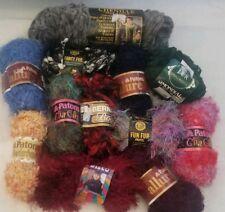 12 skeins Yarn Fun Fur Fancy Eyelash Yarn lot chenille crafts lion boa feather