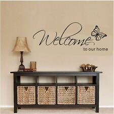 Wall Stickers custom colour welcome home butterfly vinyl decal decor Nursery kid