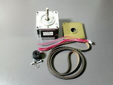"Nema 23 Stepper 24V 2A Motor Mill Robot Lathe RepRap + Pulley & 41"" Timing Belt"