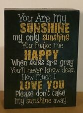 You Are My Sunshine Block Stand