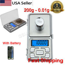 Electronic Digital Mini Pocket LCD Scale 200g-0.01g Weigh Lab Jewelry Weighing